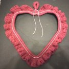 VALENTINE HEART WALL DOOR HANG  DECOR BURGUNDY PINK BEADING APPROX. 14X16