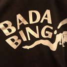 SHIRT MEN'S UNISEX RAGLAN 3/4 SLEEVE BADA BING SHIRT GRAY/BLACK - L PRE OWNED