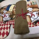 KITCHEN BAR CHUBBY CHEF TOWEL PLUS OVEN MITT - VERY LARGE TAUPE UTILITY TOWEL