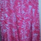SKIRT LAURA SCOTT XL NEW TAGS RED & WHITE FLORAL CREPON FLAIR STYLE VACATION