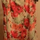 SKIRT NOTATIONS - CREPE STYLE XL FLORAL PRINT MULTI COLOR FLAIRED SKIRT NEW
