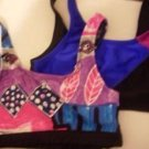 WORK OUT OR BATHING SUIT TOPS ATHLETIC APPAREL VINTAGE SMALL JR. MULTI COLOS