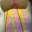 KITCHEN BAR BUNDLE (1) TAUPE  TERRY TOWEL (1) STRIPED DISH TOWEL WITH HANG LOOP