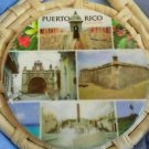 "TRIVET HOT PLATE  WALL HANG PUERT RICO THEME STRAW CERAMIC APRX. 8""X10"" SCENERY"