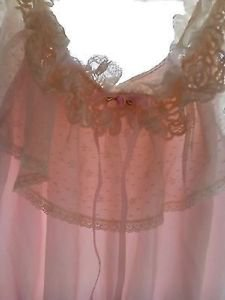 Lingerie tEDDY Ladies Large Vintage Pink Lace Top LILY OF FRANCE Sleepwear