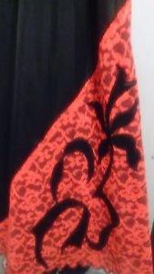 LADIES/PLUS/SLIP/EUC/VINTAGE/BLACK WITH RED LACE  XX  ROMAN'S 100% NYLON/SLIP