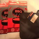 BAR KITCHEN BARBECUE (2) DISH TOWELS (1) NEOPRINE QUILTED POT HOLDER - NEW -