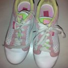 SHOES SNEAKERS PASTRY'S WHITE W/GREEN PINK WHITE LACES - WO'S 7 GOOD CONDITION