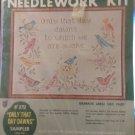 "NEEDLEWORK KIT BUCILLA RARE OLDER ""WORDS OF THOREAU"" LG.16""X20""-8751 BIRDS NEW"