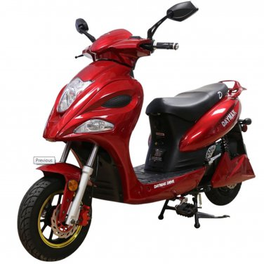 Daymak Indianapolis 500W 72V Electric Bicycle Electric Bike E-Bike eBike Moped Red Free Shipping