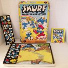 Vtg 1981 Colorforms SMURF Play Set Complete Smurfy Game Peyo