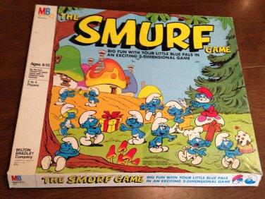 Vtg 1981 Milton Bradley Board THE SMURF GAME Complete 3 Dimensional