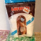 vtg Lovepats 3 Pair Lovepak Regular Cut Briefs 4-7 Hips 32-40 Terry Gusset NOS
