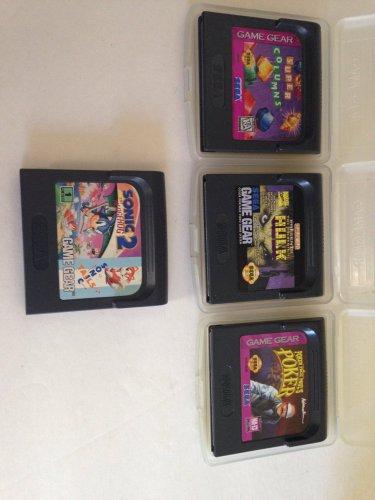 Sega Game Gear Lot/4 Sonic 2 Tails Super Columns Incredible Hulk Poker Face Paul