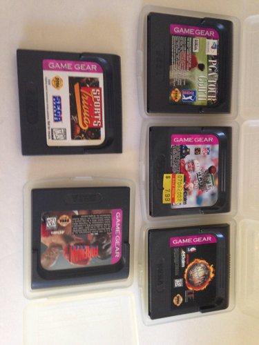 Sega Game Gear Sports Lot Trivia Foreman For Real PGA Golf Tour 2 NFL 96 NBA Jam