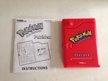 1998 Pokemon Pokedex Tiger Electronic Handheld Game Organizer Works
