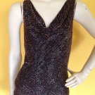 NWT Cache Heavy Beaded Brown Cami Camisole Top Blouse Evening Cocktail S