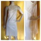 vtg OLGA Noisy Swishy Peek-A-Boo Lace Sides Full Nylon Slip 38/40/42 Ivory