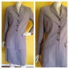 JONES NEW YORK Beige Skirt Suit Long Jacket Blazer 6 Career Business