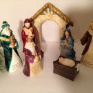 Gorgeous 7pc Nativity Set w/Matthew Luke Bible Verses Christmas Decor 6-7""