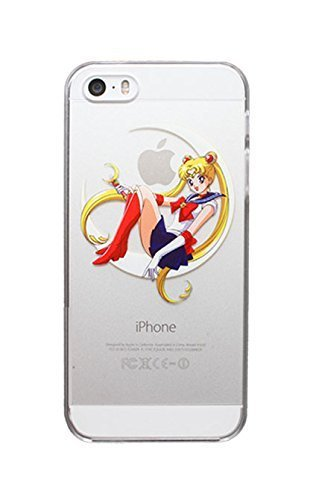 Case For Apple iPhone 6 case Transparent Hand simpsons sailor moon eating homer skin