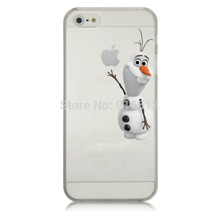 Case For Apple iPhone 6 case Transparent Hand simpsons olaf eating homer skin