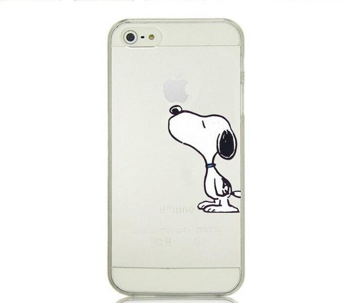Case For Apple iPhone 6 case Transparent Hand simpsons snoopy eating homer skin