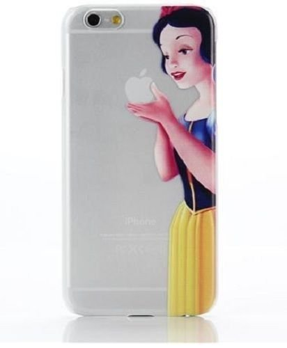 Case For Apple iPhone 6 plus case Transparent Hand simpsons snow white eating homer skin
