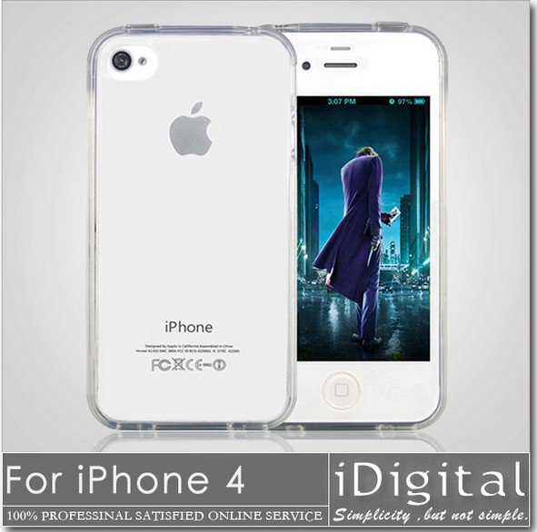 Wholesale Soft Silicon Case For Apple iPhone 4 4s TOP Quality TPU Silicon Cases