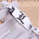 1X Anime Death Note Letter L Silver Alloy Bracelet Handchains Cosplay Costume
