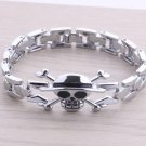 Metal chain/watch chain style bracelet of One Piece Luffy's skull head sign!