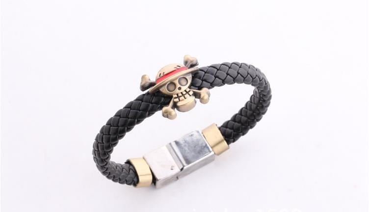 HOT One Piece Anime Cosplay Bracelet Death Skull Flag Weave Bracelets Free Ship