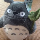 HAYAO MIYAZAKI TOTORO LOTUS LEAF angry face GREY PLUSH DOLLS CHRISTMAS GIFT