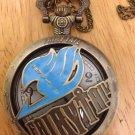 Anime FAIRY TAIL Guild Logo Badge Exquisite Quartz Pocket watch necklace