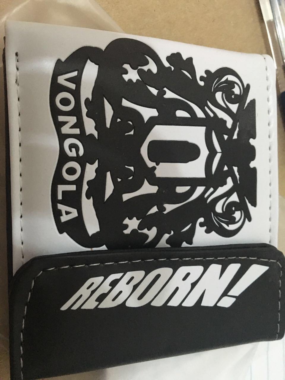 Anime Cosplay PU Bifolded Clip Purse Wallet For Katekyo Hitman Reborn