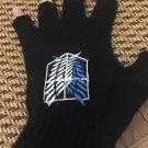 Anime Attack on Titan half finger Gloves