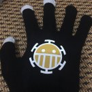 Anime One piece easy touch black Gloves