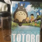 Totoro Water Bottle with a notebook