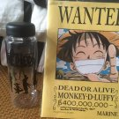 Anime One Piece Water Bottle with a notebook