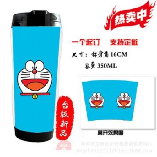 Japanese Anime Cosplay Doraemon Collection Coffee Milk Mug Travel Warm Cup