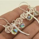 Dragonfly Abalone Paua 925 Sterling Silver Earrings Bali Jewelry EA0179 EFBA385