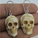 Death Skull 925 Sterling Silver Earrings Jewelry with Soul EA210 EFBA354