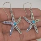 Starfish Turquoise 925 Sterling Silver Earrings Jewelry with Soul EA613 EFBA387