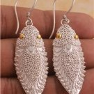 Nice Design Bali Insect 925 Sterling Silver & Gold 18Ct Charm Earrings