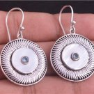 Nice Design Bali London Blue Topaz Mother of Pearl Shell 925 Silver Earrings