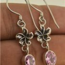 Fancy Sweety Jewelry Pink Zircon Gemstone 925 Sterling Silver Earrings EA14 EFBA