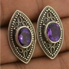 Exquisite Purple Amethyst 925 Sterling Silver Stud Earrings Jewelry with Soul