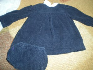 Transitional Sasha Doll early Blue Cord Dress with pants