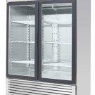 Stainless Steel 55-Inch Glass Two Door Merchandiser Upright Refrigerator MCF-8707