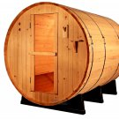 8' Ft Canadian Red Cedar Barrel Sauna WET / DRY SPA 6 Person Size - Outdoor
